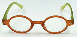 Aria Clear Readers - Orange With Green Arms