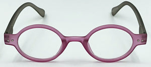 Aria Clear Readers - Purple With Gray Arms