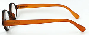 Aria Clear Readers - Brown With Orange Arms - Side View