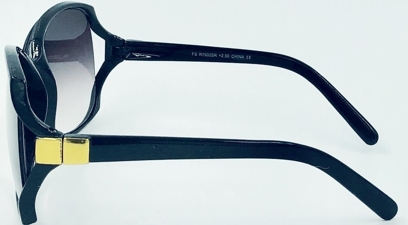 be52764b32f Jackie O Sun Readers - Black (Side View) ...