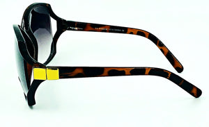 Jackie O Bifocal Sun Readers - Brown (Side View)