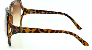 Jackie O 2 Bifocal Sun Readers - Brown (Side View)