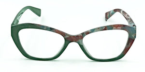 Luna Readers-Green/Red-Front View