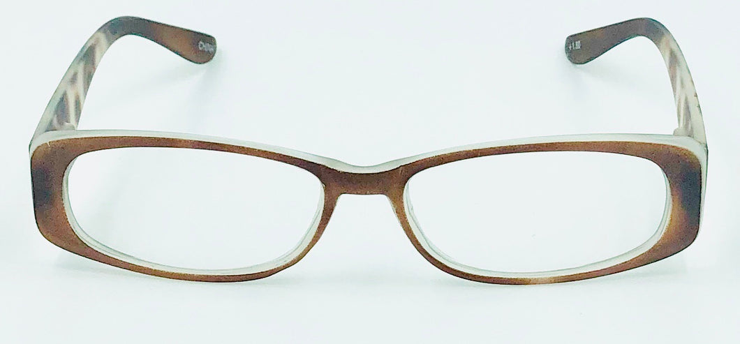 Chloe Clear Fashion Readers - Brown