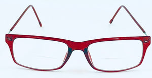 Harper Reading Glass Bifocals - Red