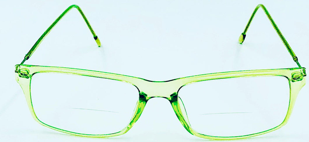Harper Reading Glass Bifocals - Green