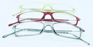 Harper Reading Glass Bifocals - Green, Red, & Brown