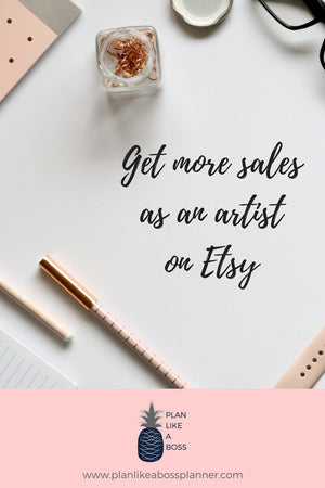 Get more sales as an artist on Etsy