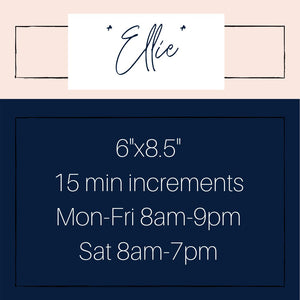 The *Ellie* A5 15 min Appointment Planner
