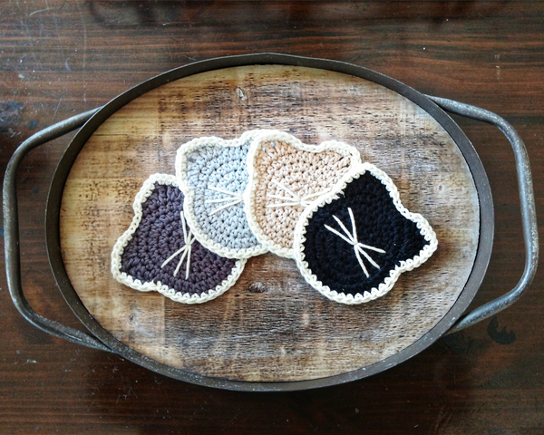 Yarn Over by Mary Cat Coasters on Handmade Home Blog