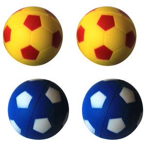 Bouncing Sponge Football - 4 Pack - Yellow/Blue