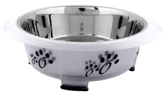 Color Splash - Designer Oval Fusion Bowl - Small - Gray - for Dog/Cat - 15 Oz - 2 Cups