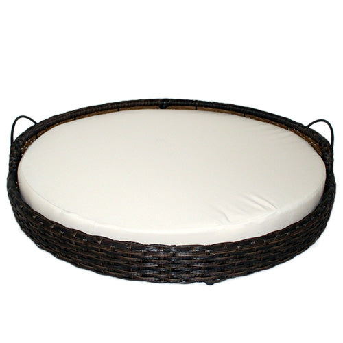 Rattan Round Pet Basket - Small
