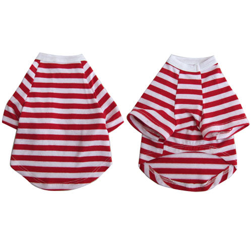 Pretty Pet Red and White Striped Top - XX Small