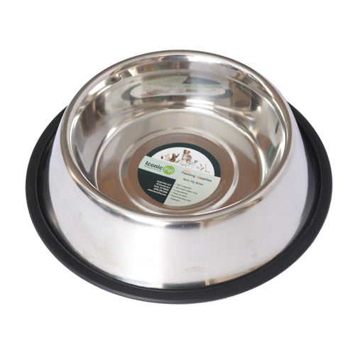 Stainless Steel Non-Skid Pet Bowl for Dog or Cat