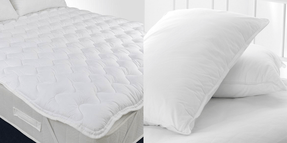 Quilted Topper + Hollow Fibre Pillows