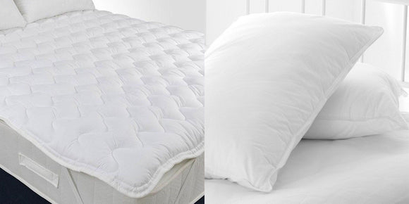 Quilted Topper + Micro Fibre Pillows