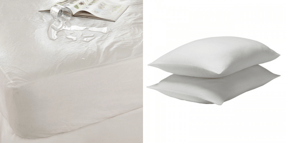TENCEL Waterproof Mattress Protector + TENCEL Pillow Protector (Pair)