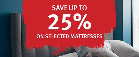 Save 25% on selected mattresses
