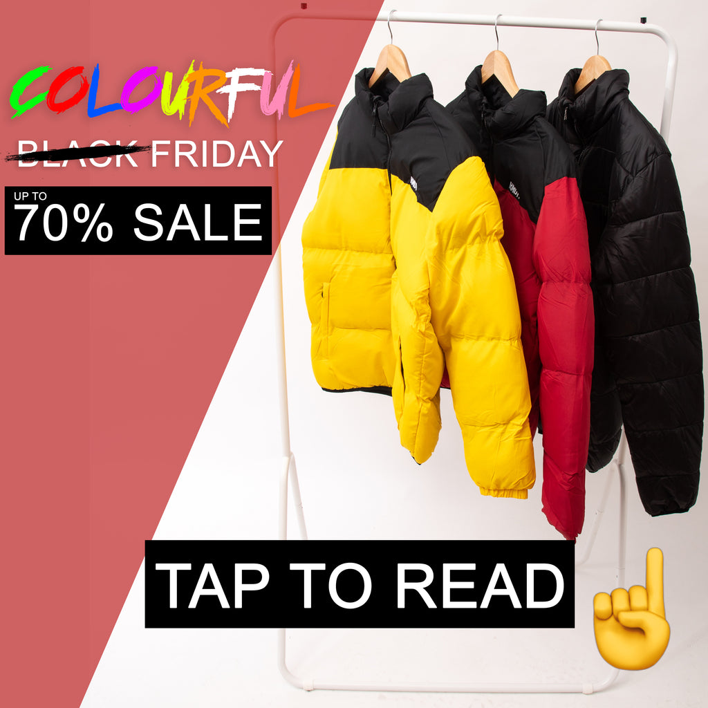 "UP TO 70% OFF ""COLOURFUL FRIDAY"" SALE NOW ON"