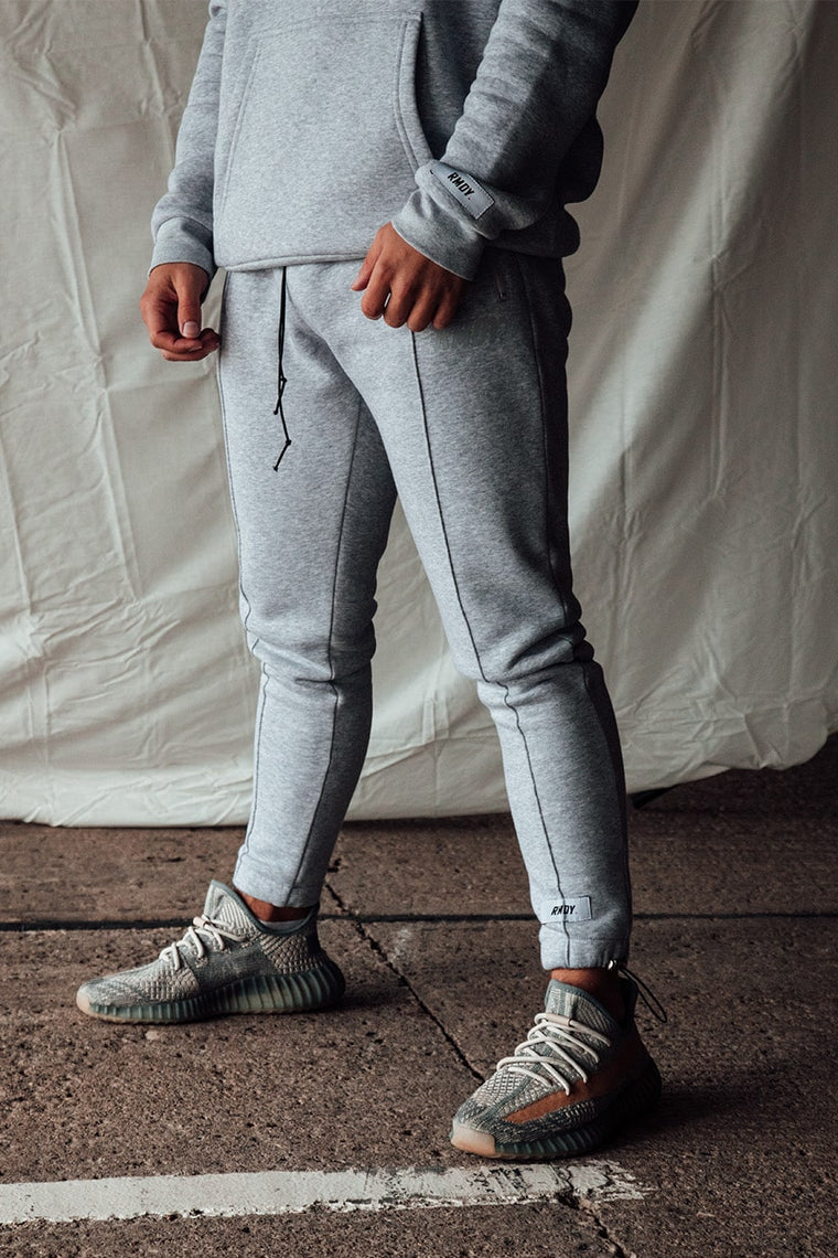 Grey Tonal Tapered Joggers
