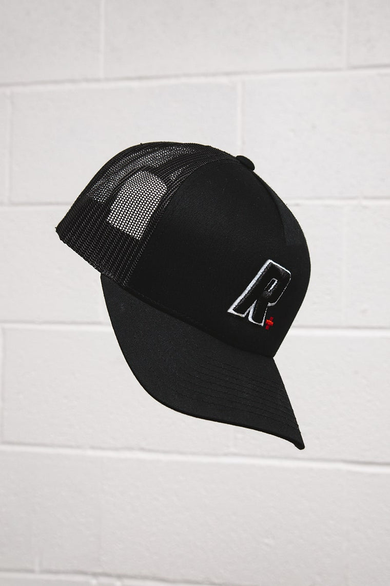 Black RMDY. R Trucker Cap