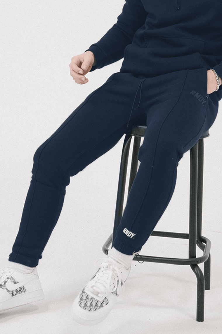 Navy Tonal Tapered Joggers