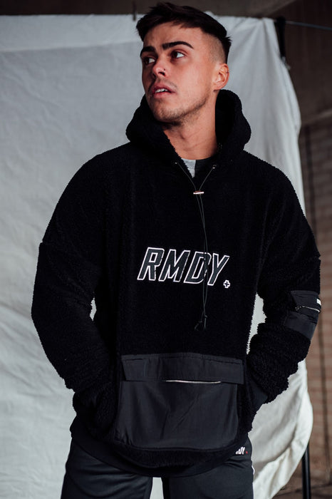 Black RMDY. Teddy Fleece Hoodie