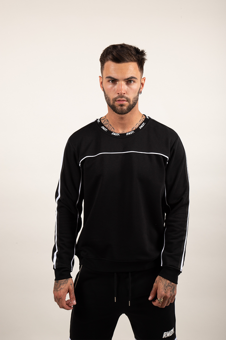 Black Piped Twinset Jumper