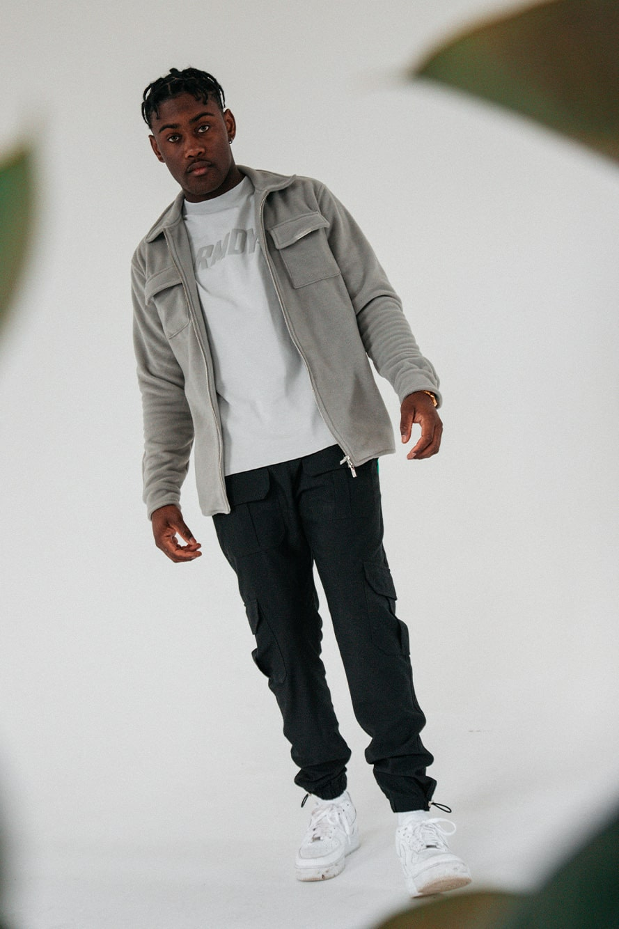 Grey Zipped Fleece Shacket