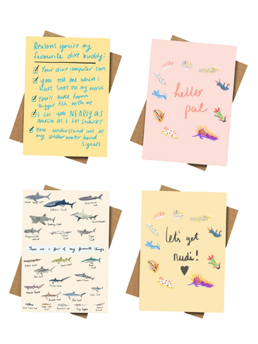 Scuba Greeting Cards - Pack of 4