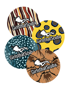 Girls that Scuba marine sticker pattern pack of 4