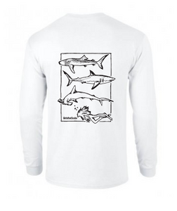 Long Sleeve Girls that Scuba Sharks T-shirt