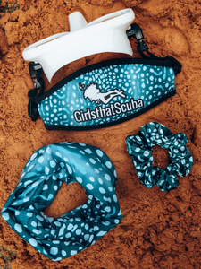 Whale shark mask strap cover