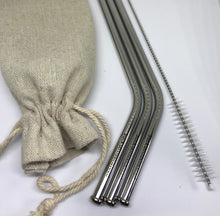 Stainless steel reusable straws