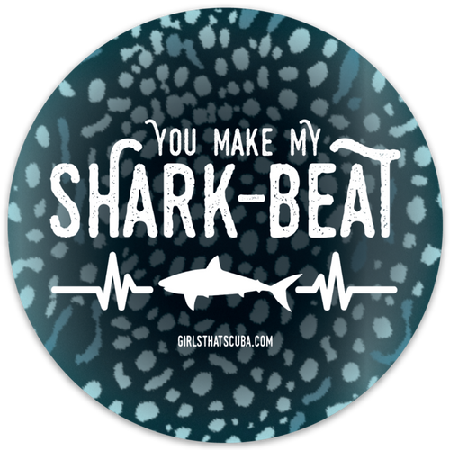 You make my shark-beat sticker