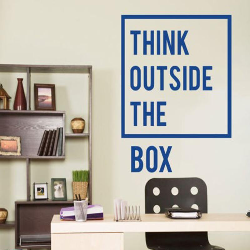 outside the box office. Simple Outside New Style Inspirational Motivational Office Think Outside The Box Quotes  Wall Decal Art Decor Home Stickers 77X60cm And R