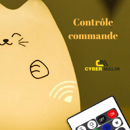 Veilleuse lampe chat