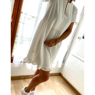 ROBE LIZON Blanche