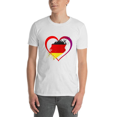 T-Shirt Love Allemagne blanc