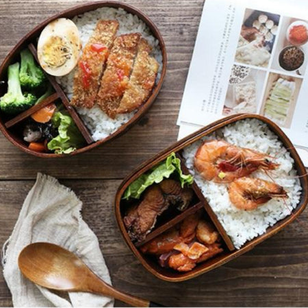 Bento / Lunch-box Wood - Viva Healthy