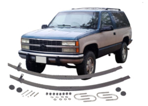 Chevrolet / GMC - Blazer, Jimmy, Suburban All, K10/1500, K20/2500; Front Tapered Extra Leaf Kit
