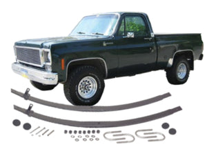 "Chevrolet / GMC - K30/3500, V30/3500; Front (""V"" body only) Tapered Extra Leaf Kit"