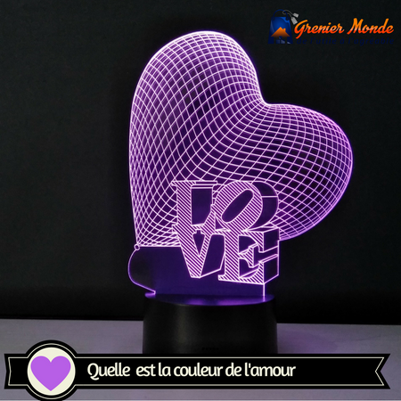 lampe hologramme amour