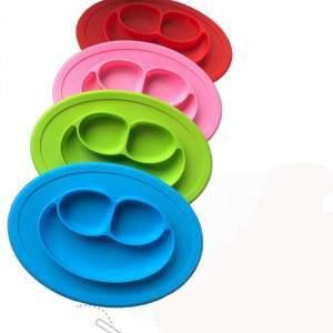 Silicone Material Baby Dining Plate Health Lovely Smile Face Lunch Tableware Kitchen Fruit Dishes Children Bowl greniermonde