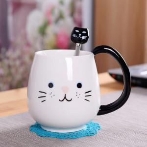 Creative Pot-bellied Cup Cartoon Mug Ceramic Cup Coffee Milk Mug  Mark Cat Cup greniermonde Creative Pot-bellied Cup Cartoon Mug Ceramic Cup Coffee Milk Mug  Mark Cat Cup greniermonde
