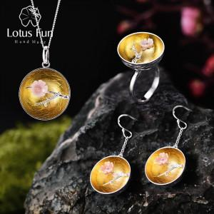 Lotus Fun Real 925 Sterling Silver Natural Handmade Fine Jewelry Flower The Aroma of Wintersweet Jewelry Set for Women Bijoux greniermonde Lotus Fun Real 925 Sterling Silver Natural Handmade Fine Jewelry Flower The Aroma of Wintersweet Jewelry Set for Women Bijoux greniermonde