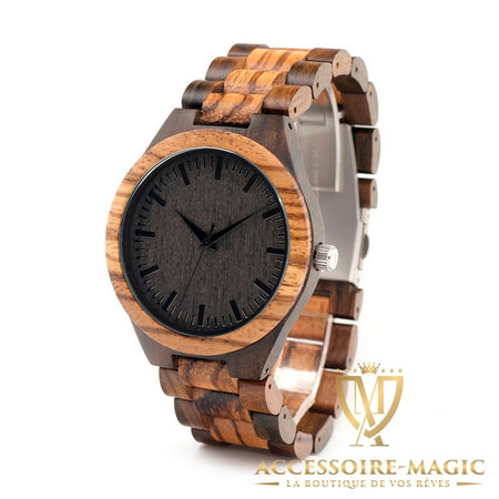Montre bois vintage magic