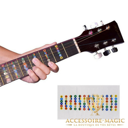 Sticker note guitare magic