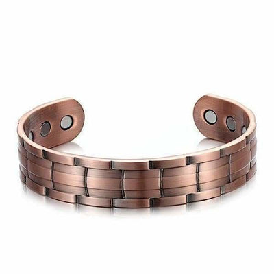 Bio Magnetic Copper Bangle - Men - KAM- Bronze Magnetic Bracelet